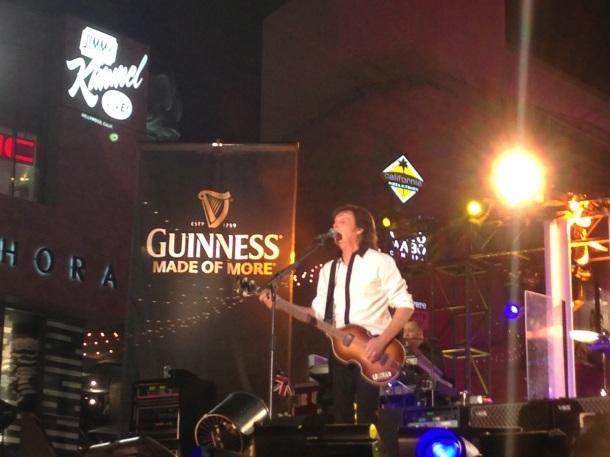 Paul McCartney at Jimmy Kimmel Live 9-23